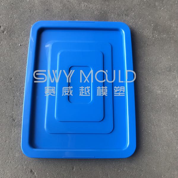Пластиковая форма для крышки мусорного бака