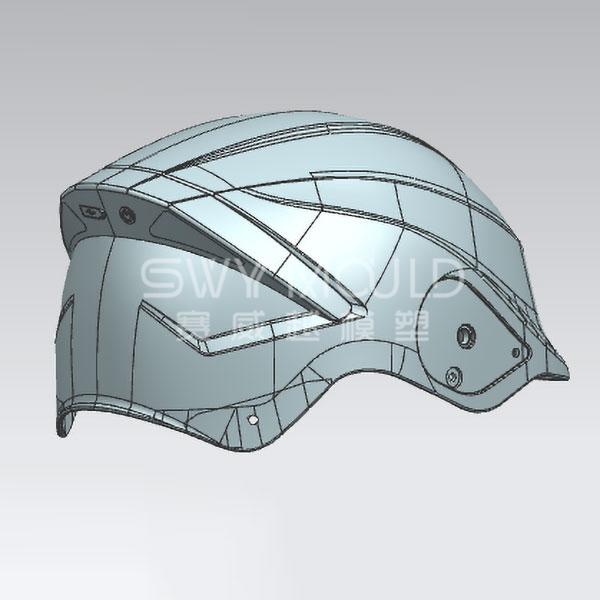 Пластиковая форма для мотоциклетного шлема